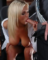 Bree Olson fucked in the office